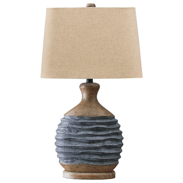 Picture of MEDLIN BGE/GRY TRAD TBL LAMP