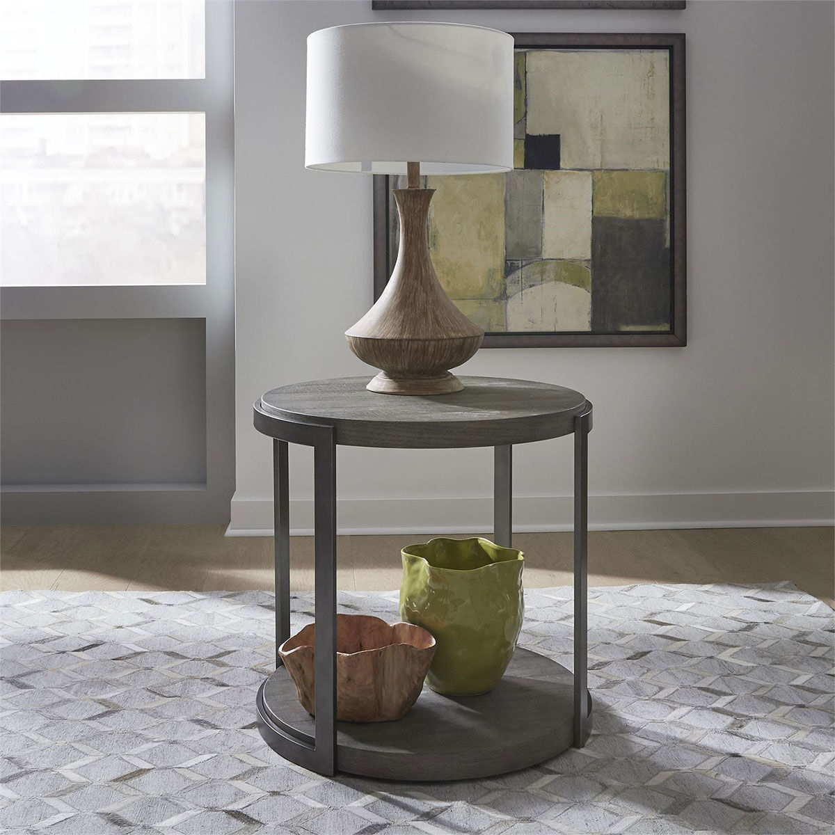 Picture of CALABASAS ROUND END TABLE