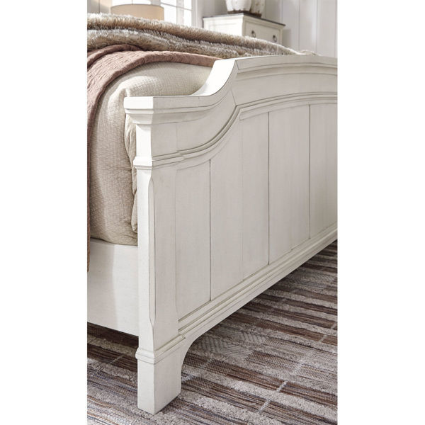 Picture of BRUSSELS WHITE KING PANEL BED
