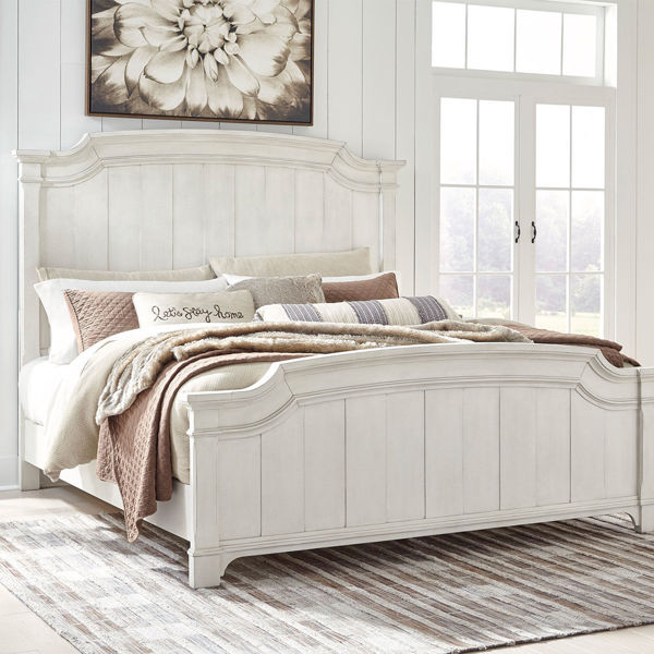 Picture of BRUSSELS WHITE QUEEN PANEL BED