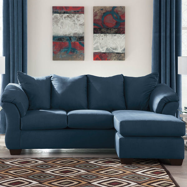 Picture of AUSTIN NAVY SOFA CHAISE