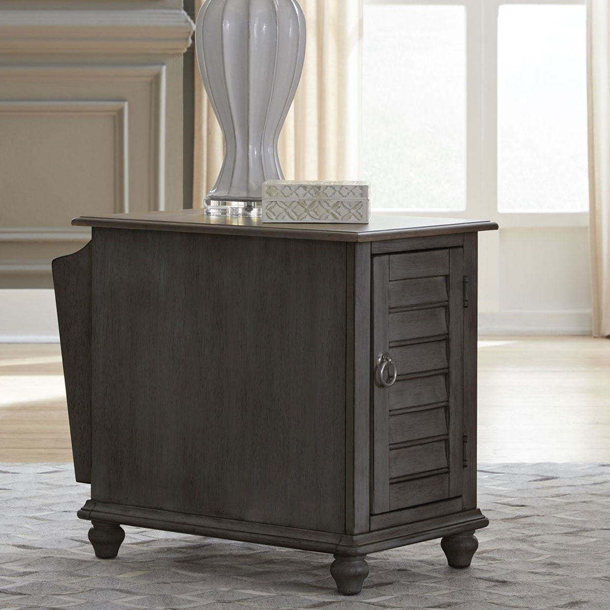 Picture of MARTHA GREY CHAIRSIDE TABLE
