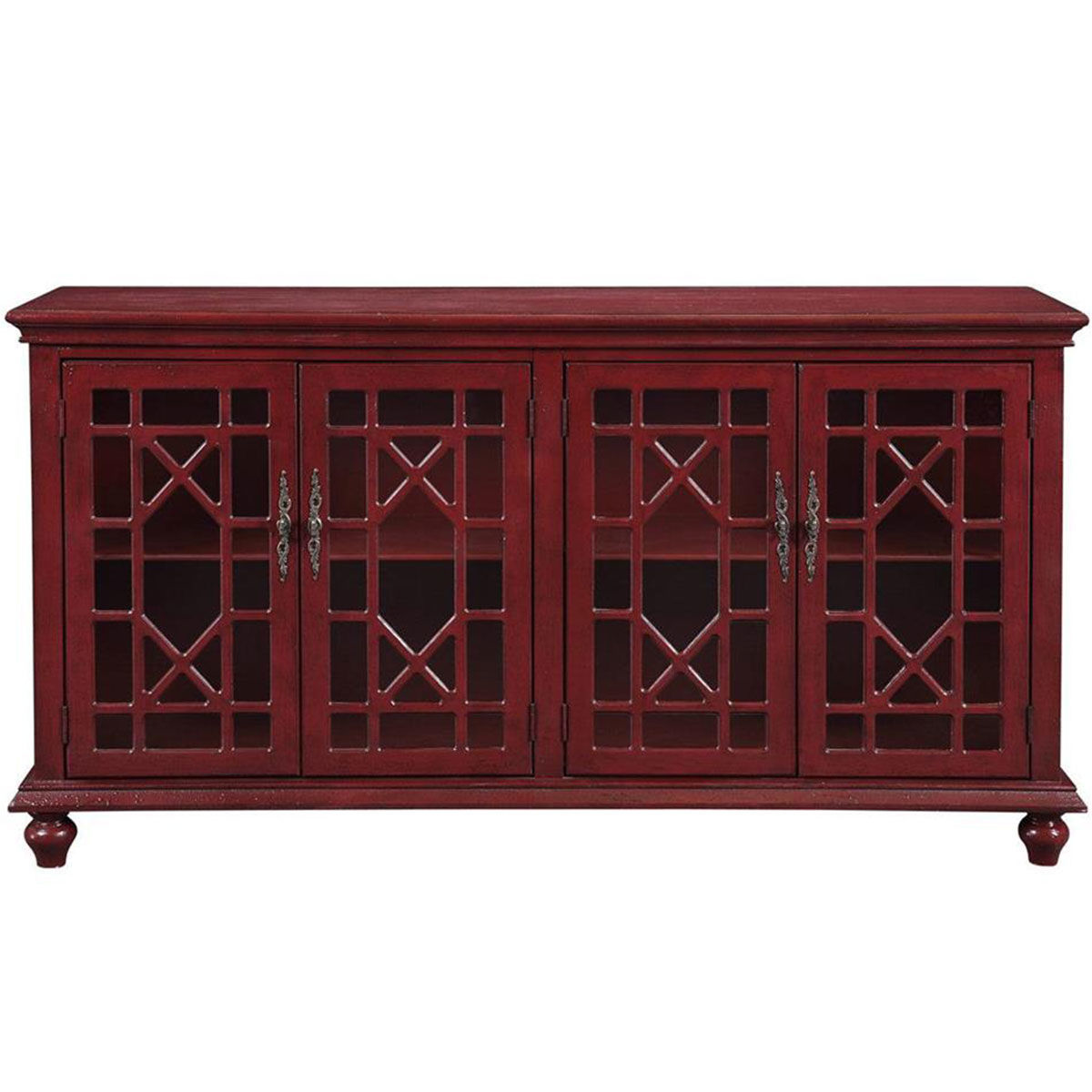 Picture of RED 4 DR MEDIA CREDENZA