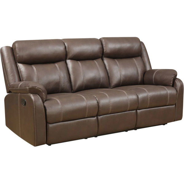 Picture of DERRICK RECLINING SOFA W/ DROP DOWN TABLE