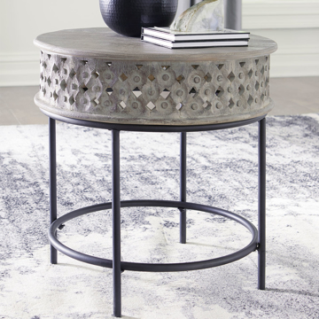 Picture of MONROE ROUND END TABLE