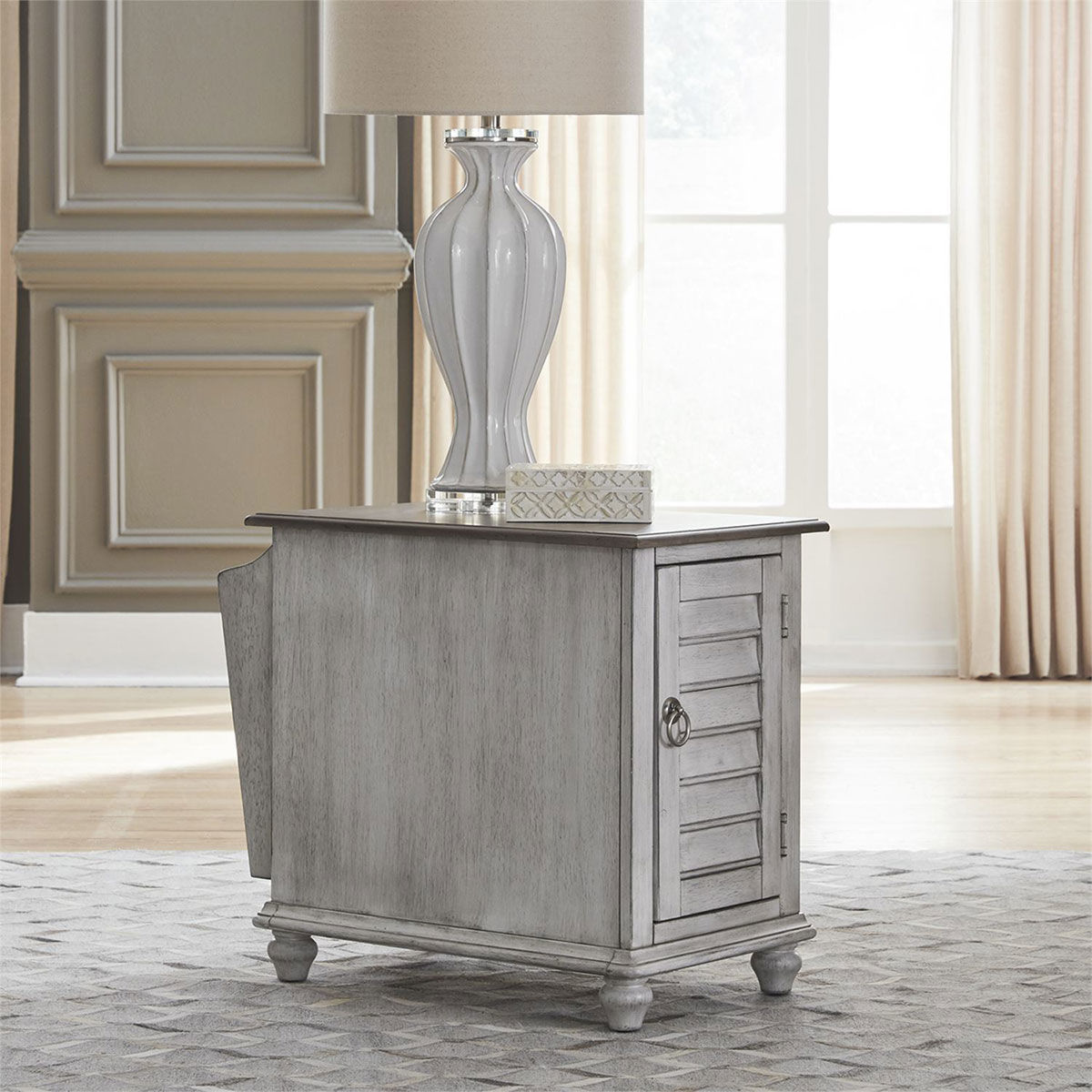 Picture of MARTHA WHITE CHAIRSIDE TABLE