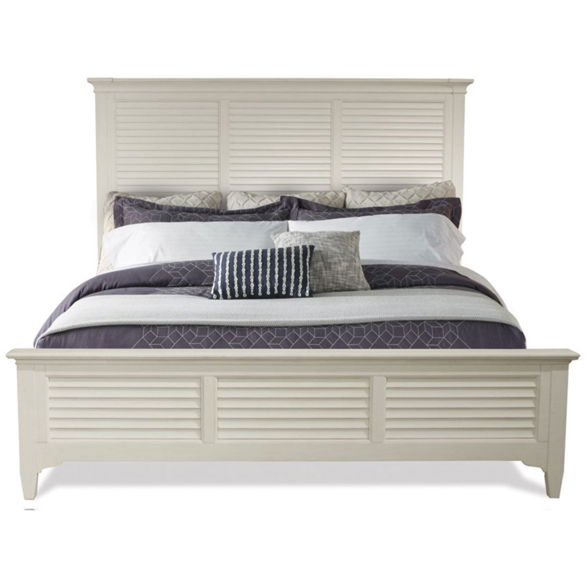 Picture of MYRA WHITE LOUVERED BED