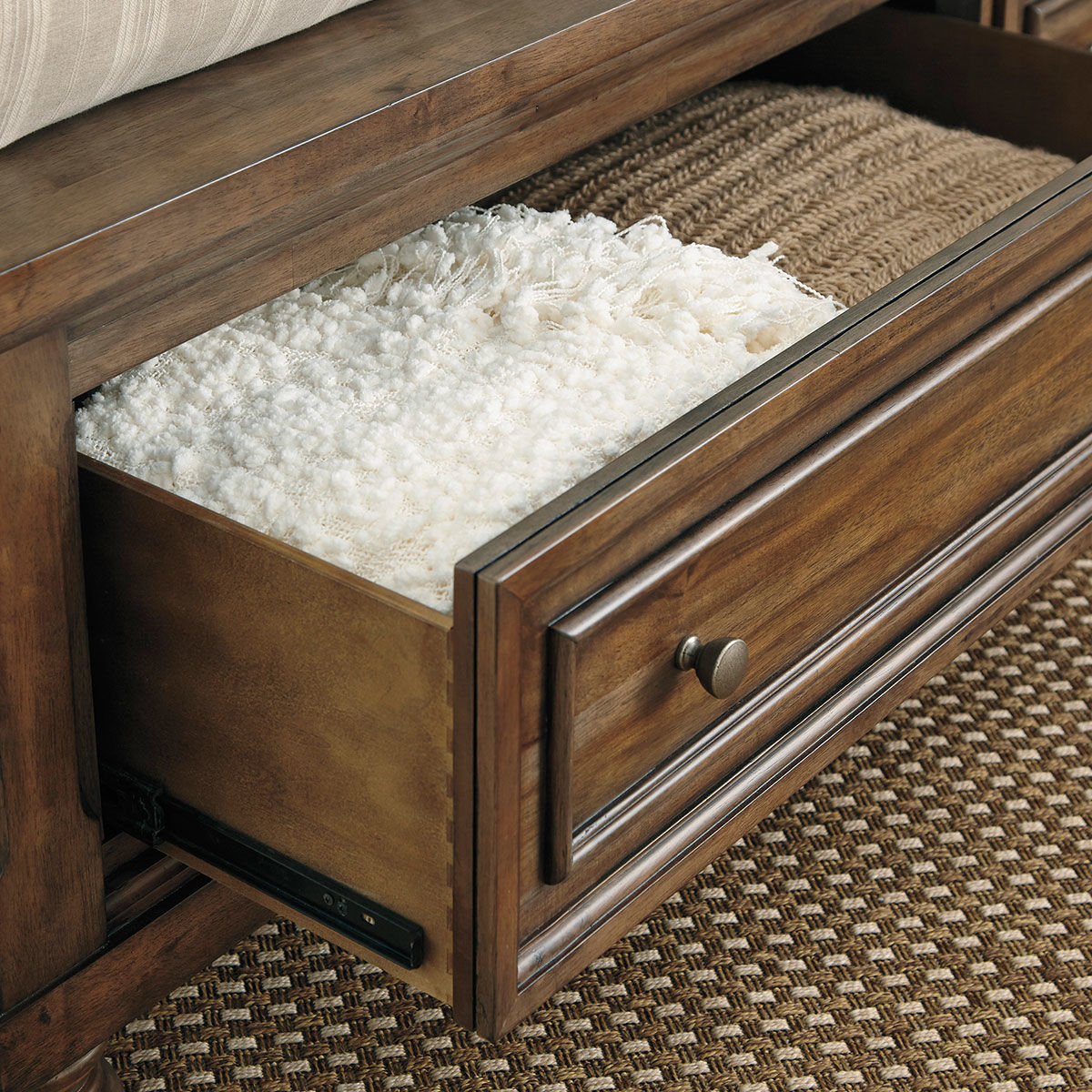 Picture of KENLEY BROWN KING STORAGE SLEIGH BED
