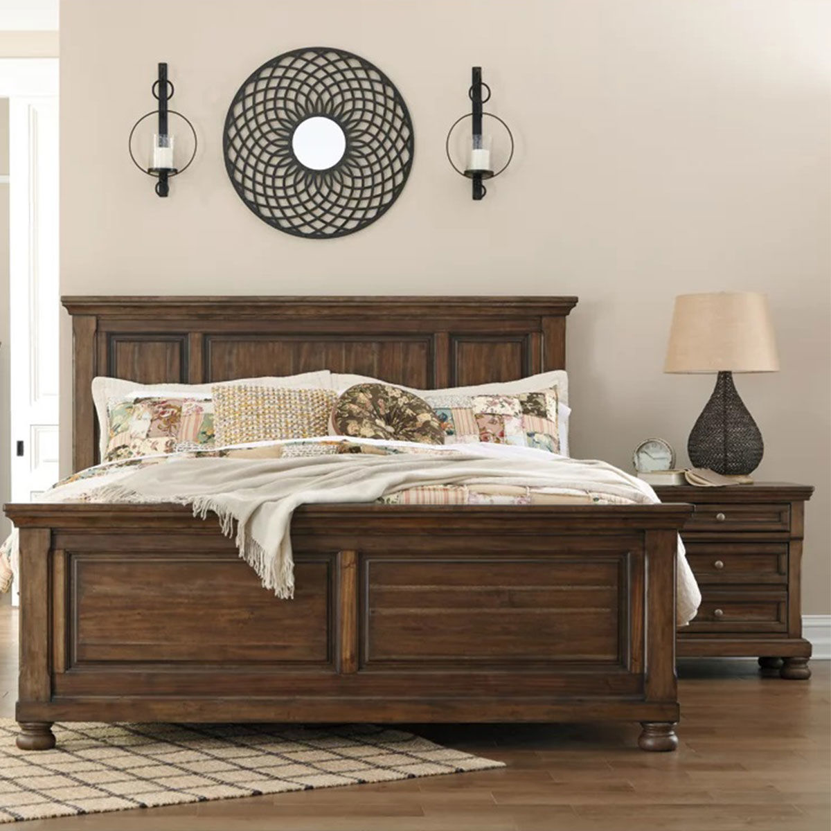 Picture of KENLEY BROWN PANEL BED