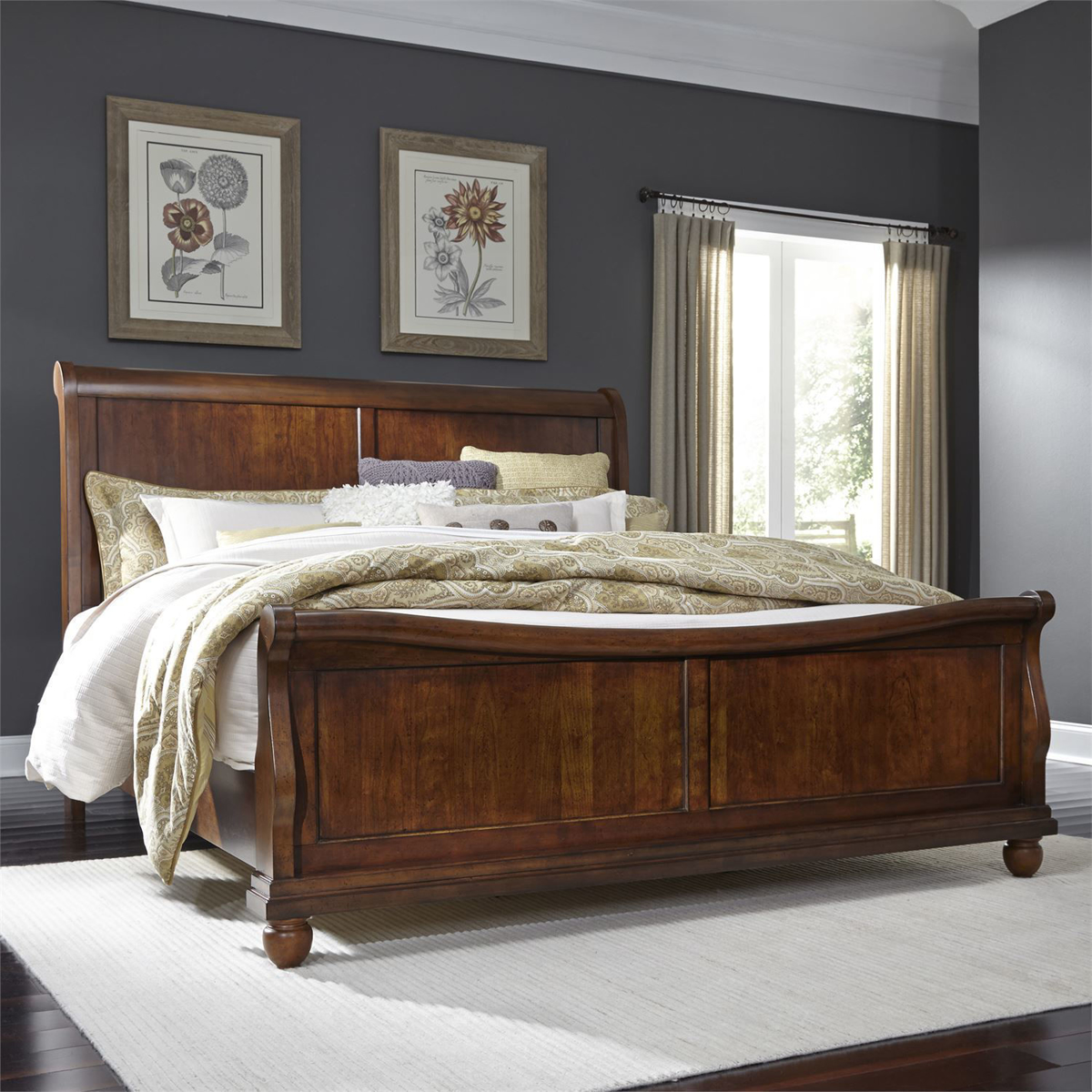 Picture of Tudor Sleigh Bed