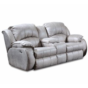 Picture of BRADINGTON STEEL LOVESEAT W/CONSOLE & POWER HEADREST