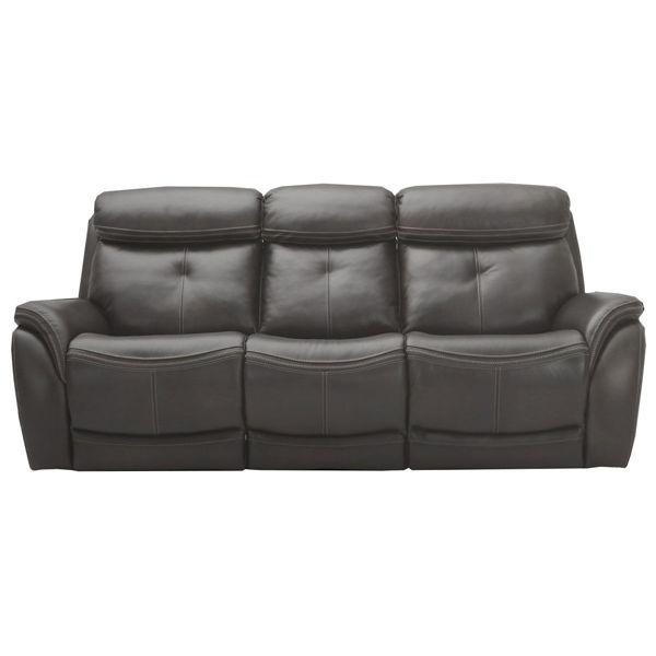 Picture of Raleigh Leather Sofa with Power Headrest in Steel