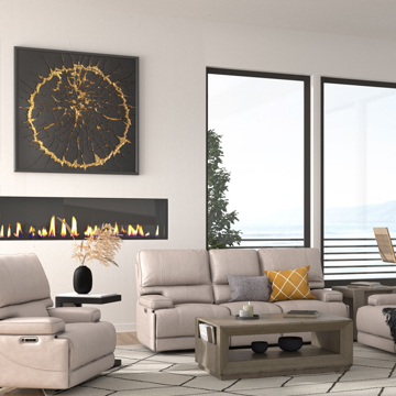 Picture of WHISTLER LINEN LEATHER LIVING ROOM COLLECTION