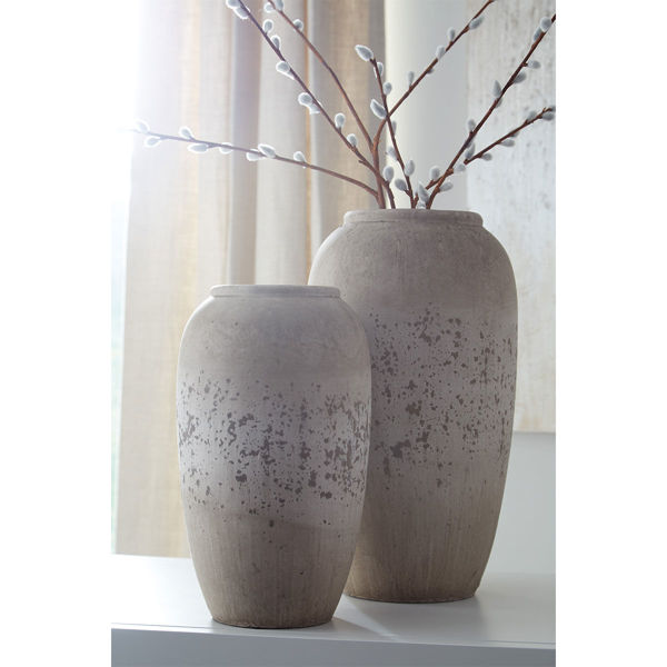 Picture of DIMITRA 2 PC GREY VASE SET