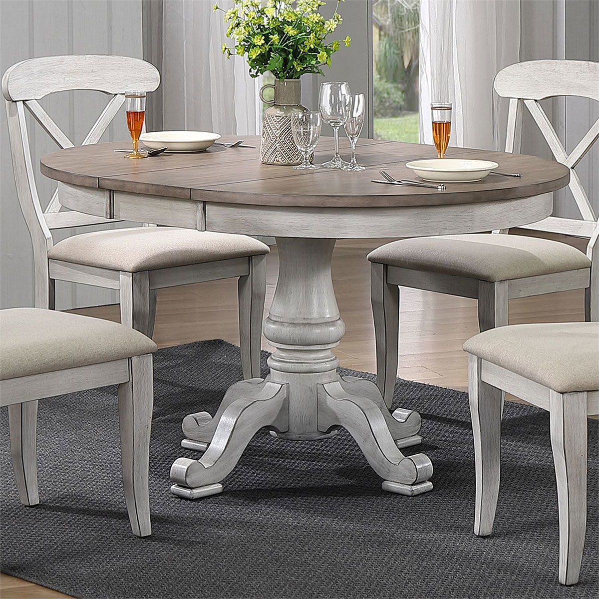 Picture of MARTHA 5PC PED WHITE DINING