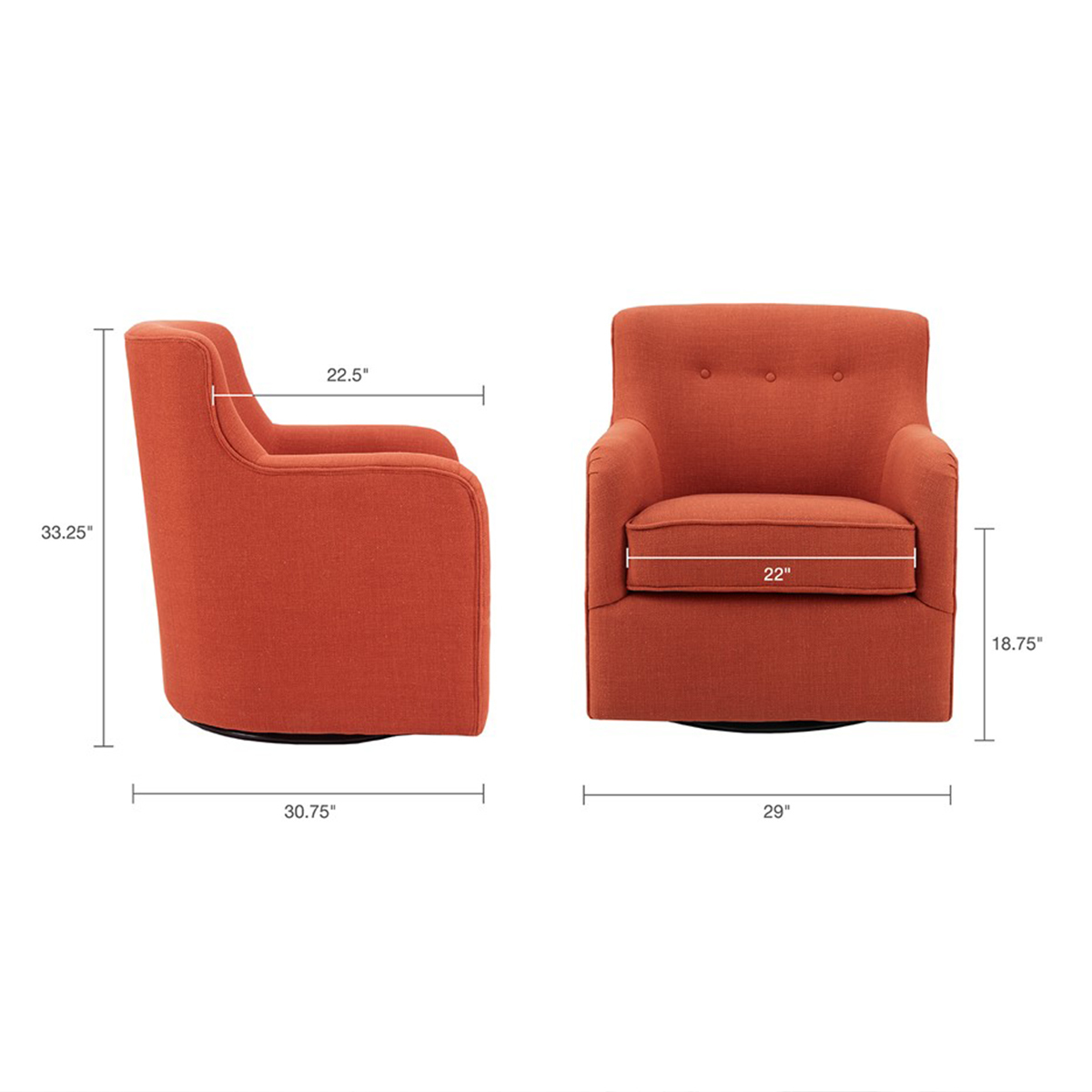 Picture of ADELADE SPICE SWIVEL CHAIR