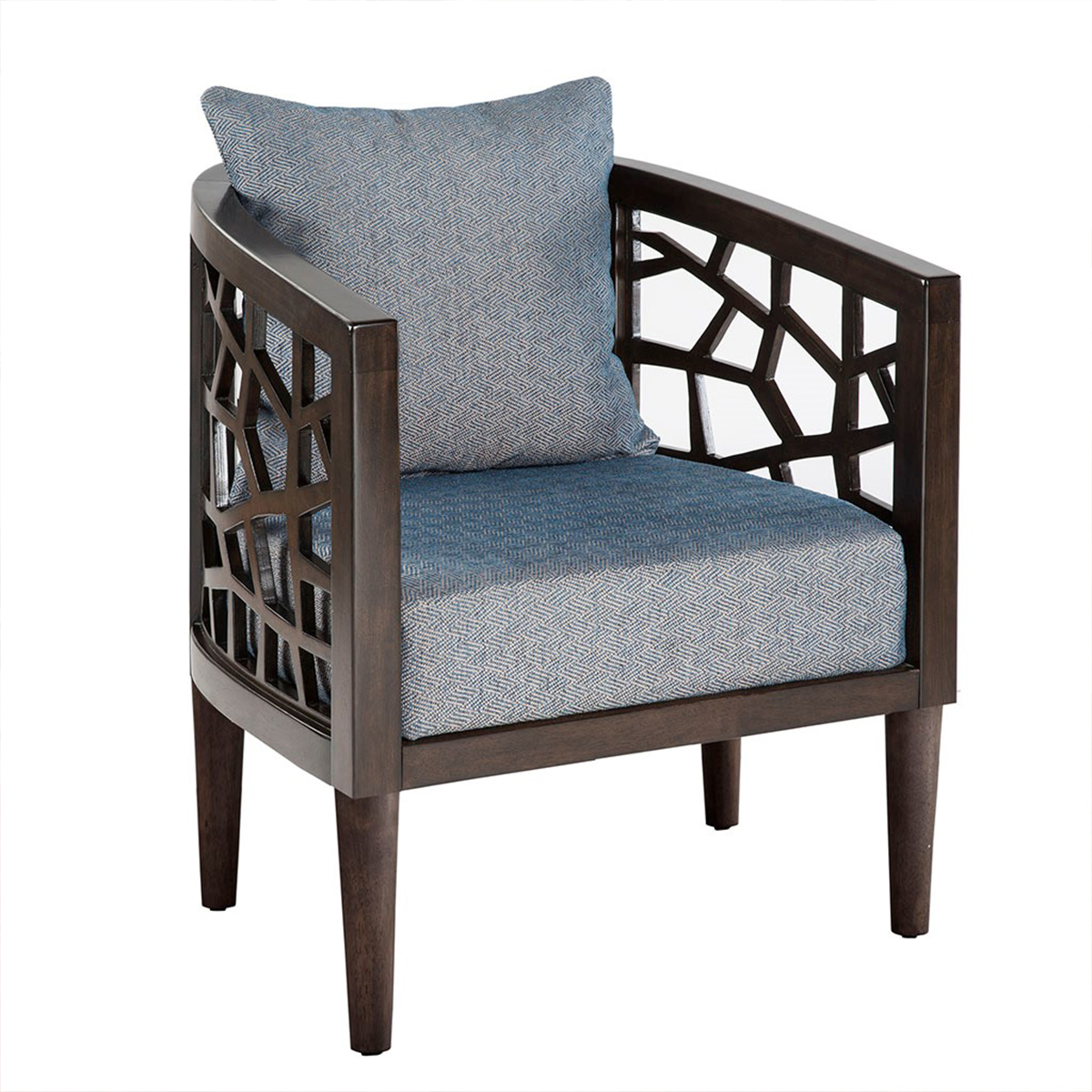 Picture of CRACKLE BLUE ACCENT CHAIR