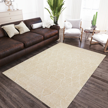 """Picture of MARQUEE 1 IVORY 5'1""""X 7'5"""" RUG"""