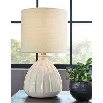 Picture of GRANTNER CREAM TABLE LAMP