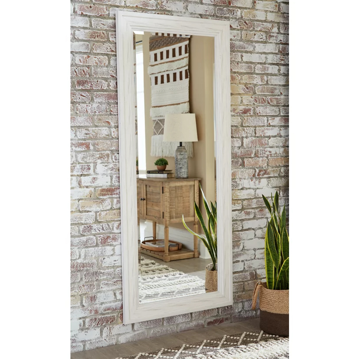Picture of JACEE WHITE FLOOR MIRROR