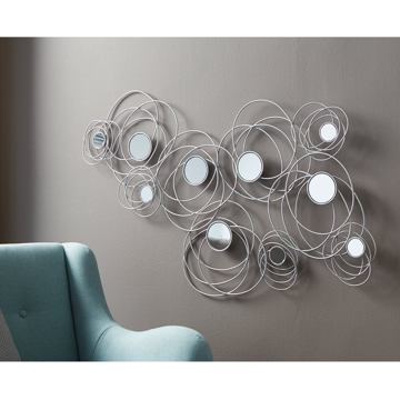 Picture of DESI SILVER METAL WALL ART