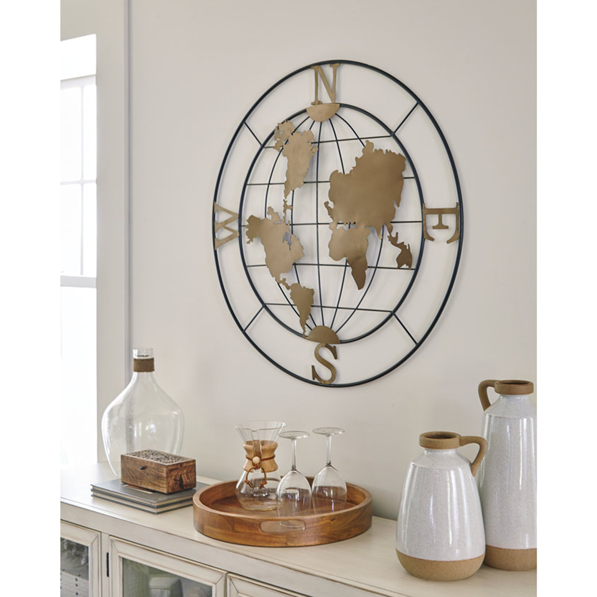 Picture of BRINLY WORLD METAL WALL ART