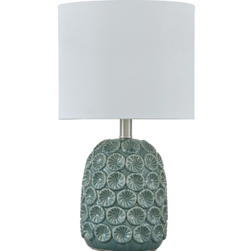 Picture of MOORBANK TEAL TABLE LAMP