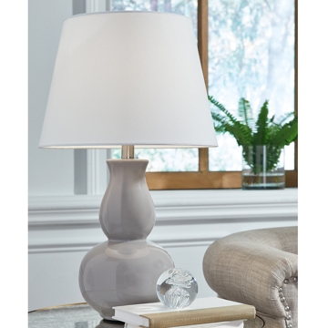 Picture of ZELLROCK GREY TABLE LAMP