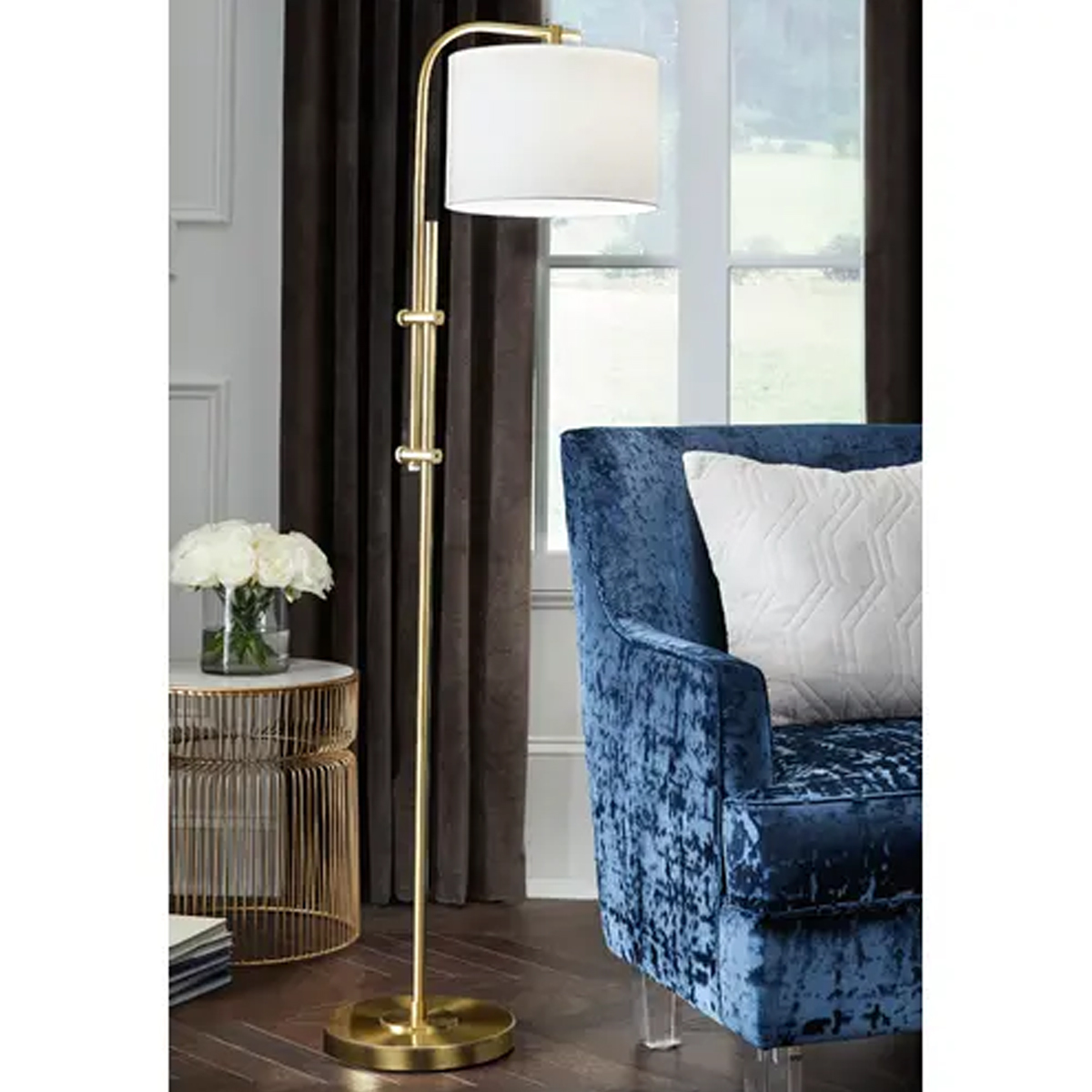Picture of BARONVALE GOLD FLOOR LAMP