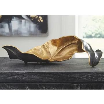 Picture of MELINDA BLACK GOLD LEAF SCULPTURE