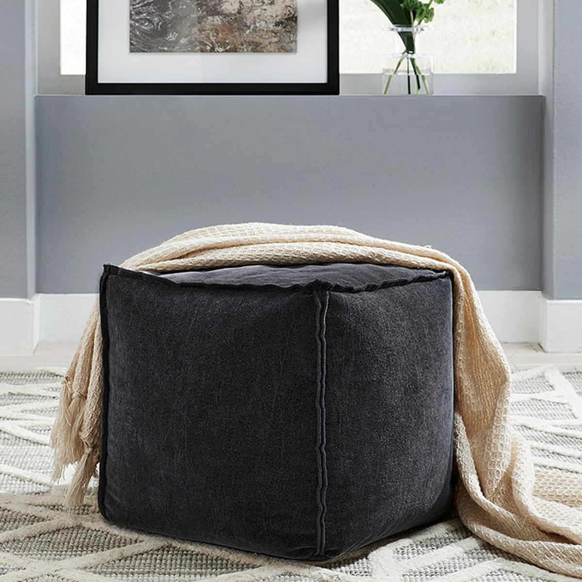 Picture of MORIAH BLACK POUF